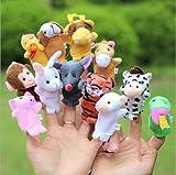 Asien 1set / 10er Familie Fingerpuppen füllen Plüsch-Stoff Educational Hand Tier nettes Spielzeug-Geschenk für Kinder