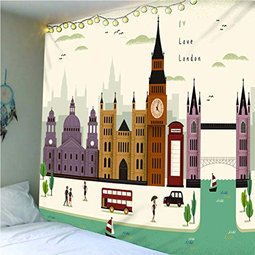 Tapiz De Impresión 3D Cartoon Londres Street View