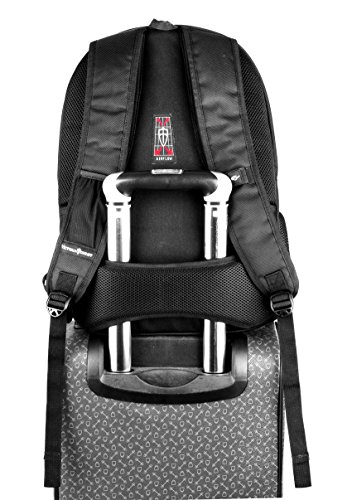 Victoriatourist V6060 Laptop Backpack College Rucksack Business Bag with 2 Laptop Tablet Compartments Fits Macbook Pro / Most 16 Inch Laptops (Black)