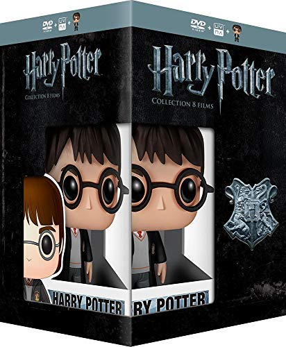 Harry Potter Collection   8 DVD Box Set & Harry Potter FUNKO Figurine ( Harry Potter and the Sorcerer's Stone / Harry Potter and the Chamber [ Origen Francés, Ningun Idioma Espanol ]