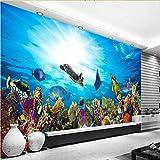 Zybnb 3D High Definition Aquarium Ornament Hintergrund Malerei Aquarium Tapete Zubehör Wohnzimmer Schlafzimmer Wohnkultur