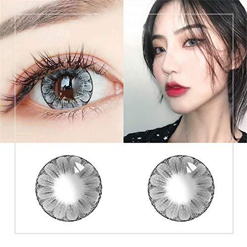 (2PCS Farbige Kontaktlinsen Große Augen Mädchen Stil Kontaktlinsen Großes Auge große Pflaumenblüte Stil kosmetische Kontaktlinsen)