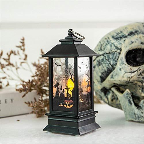 mysticall Retro Öllaternen, Kürbis-Schloss beleuchtet Thema-Partei-Laterne Halloween-Nachtlicht, dekorative Lichter Halloweens