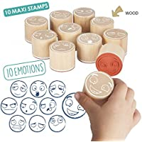 Akros 20546 Maxi-Stamps of the 10 Emotions Learning Games
