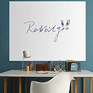 rabbitgoo tableau blanc ardoise sticker autocollant d 39 paisseur 44cm x 198cm avec 1 marqueur. Black Bedroom Furniture Sets. Home Design Ideas