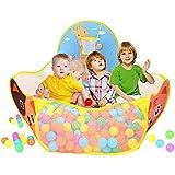 Piscine à balles pour enfants - 1.2M Tente de jeu bébé Portable baby zelt Océan Boule Piscine avec Basketball Cerceau