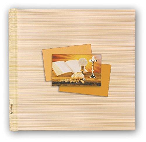 Zep cmg313120- album fotografico tradizionale per comunione, con fogli in carta laminata, colore: giallo/bianco, 32x 32x 2,5cm