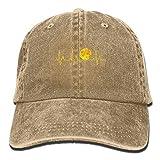 Fashion Home Pickleball Heartbeat Golden Adult Sport Adjustable Baseball Cap Cowboy Hat