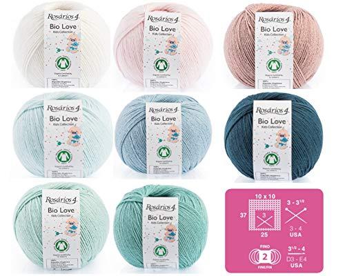 Pure Organic Cotton Knitting Crochet Baby/Kids Yarn - Ball 50gr - Bio GOTS Certified (White 01)
