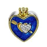 NINAQUEEN Cupido Abalorio de Mujer Plata de Ley 925 Charms para Día de la madre beads compatible con Pulsera de Pandora Joyas Regalo para Cumpleaños Aniversario día de San Valentín Día de la Madre