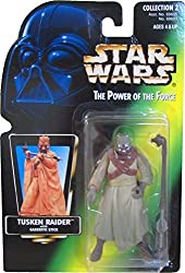 Vintage 1996 Star Wars Power Of The Force Tusken Raider (Sand People) Action Figure on Non-Holo Green Card