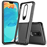 BIGZOOK® (Eagal Series) Case and Cover for OnePlus 6 Mobile Shock Proof Anti Slip Clear Transparent Soft TPU Case [64GB] [128GB] [2018 Launch] [One Plus 6] (Black)