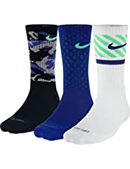 Nike 3PPK Dri-Fit Triple Fly - Calcetines unisex, color negro / blanco, talla M