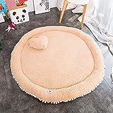 Zinsale Il giro Grande Addensare Fleece Baby Playmat cotone Palestra del pavimento Asilo nido Pad attività Tappeto strisciante (Caffè)