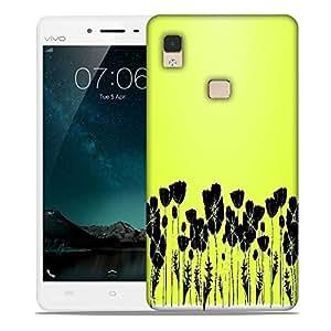 Snoogg grass and poppy Designer Protective Back Case Cover For Vivo V3 Max