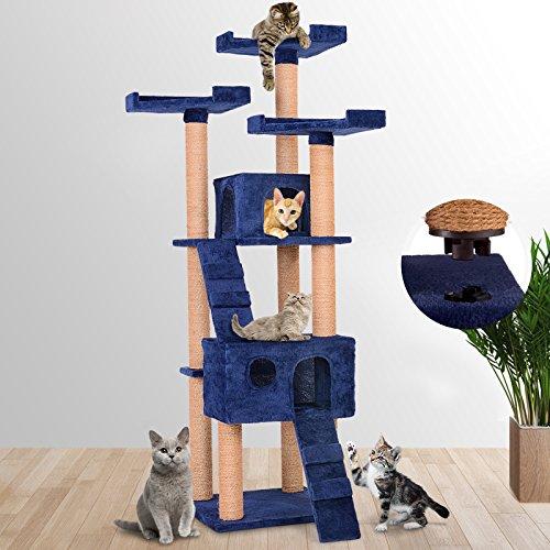 Leopet rbol rascador para gatos con cuevas escaleras y - Arbol gato ikea ...