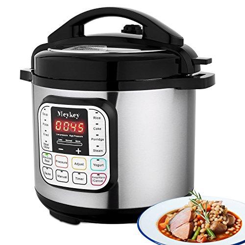 Teaio 7-in-1 Elektrisch Schnellkochtopf Reiskocher Multikocher Programmierbarer Kocher Jogurtbereiter Elektrisch Dämpfkochtopf, 24 Stunden Timer, 6 L, 1000W