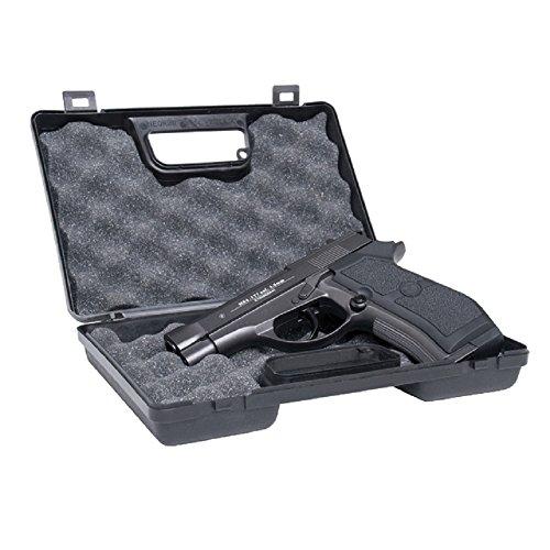 GSG Waffenkoffer Small - Schlagfester Kunststoff - Für kleine und mittelgroße Pistolen - Gepolstert - Abschließbar