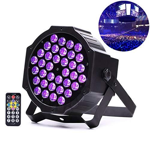 ng 36W LED Blacklights Par Bühnenlicht mit Sound/Fernbedienung/DMX512 Steuerung für DJ Disco Bar Halloween Party ()