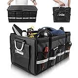 Oasser Kofferraumtasche AutoKofferraum mit Deckel Auto Organizer Auto Kofferraum mit Klett Faltbox Auto Aufbewahrungsbox Taschen Praktisch und Wasserdicht