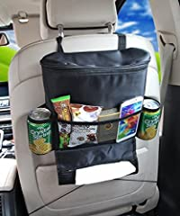 Pink Pari Car Seat Back Organizer,Multi-Pocket Travel Storage Bag(Heat-Preservation)