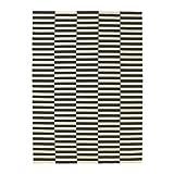 Ikea Stockholm Teppich in schwarz/weiß; flach gewebt; Handarbeit; (250x350cm)