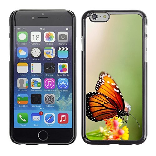 Soft Silicone Rubber Case Hard Cover Protective Accessory Compatible with Apple iPhone? 6 (4.7 Inch) - wings butterfly flower green