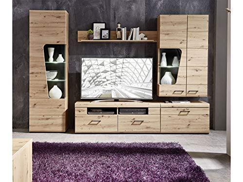 möbelando Wohnwand Anbauwand Schrankwand Mediawand TV-Wand Wohnzimmerwand Filmer IV