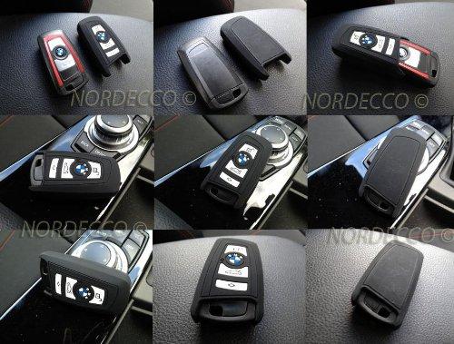 Protex - Funda protectora de silicona para llave de BMW serie 1, 3, 4, 5, 6 y 7, negro