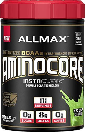 ALLMAX Nutrition Aminocore BCAAs, 100% Pure 45:30:25 Ratio, Key Lime Cherry, 1166 g