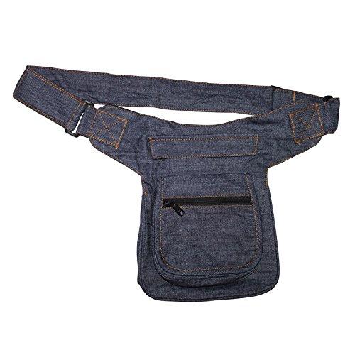 Freak Scene® Tasche ° Gürteltasche ° Kurt ° Bauchtasche ° Hüfttasche, alle Farben!!! Jeans blau