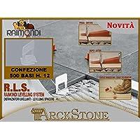 ARCKSTONE 1 confezione da 500 basi 3-12 mm per fuga da 1,5 mm pavimento piastrella (Pinza Delle Mattonelle)