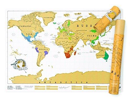 GenialES® Scratch Mappa del Mondo Vintage Diario