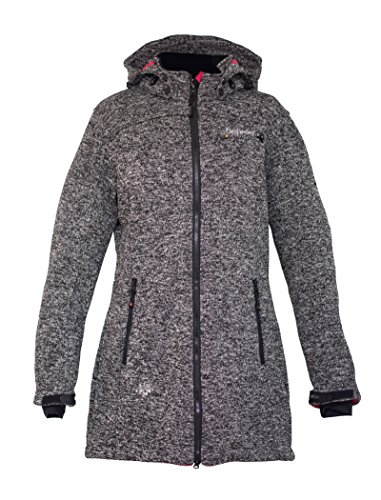 Deproc Active Damen Strickfleece Mantel Elkford Longjacket Lady, anthracite, 48, 54347-080