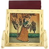 Ganga Craft House Pine Wood With Gemstone Mobile Stand Handmade Painting