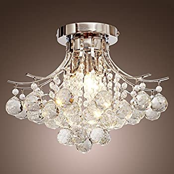 Amazing Saint Mossi Modern K9 Crystal Raindrop Chandelier Lighting Flush Mount LED  Ceiling Light Fixture Pendant Lamp Part 28