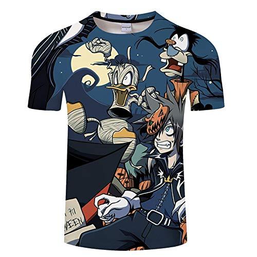 b2314aa10 Naveho Camiseta Hombre Cuello Redondo Unisex Patrón 3D Impreso  Personalizada Algodón para T-Shirts Manga