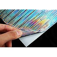 Tigofly 6 unids 10x21cm holográfico adhesivo película Flash patrón vertical artificial piel de pescado DIY plantilla duro cebo señuelos etiqueta engomada