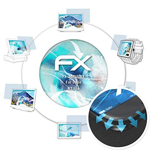 atFolix Schutzfolie passend für Oppo R7 lite Folie, ultraklare & Flexible FX Bildschirmschutzfolie (3X)