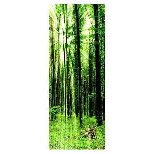 Wqq Türaufkleber Vier Jahreszeiten Sonnenschein 3D Türtapete Wasserdicht Abnehmbar Selbstklebend Schlafzimmer Aufkleber der Tür DIY Poster (30.3X78.7in),C