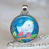 Bluebird of Happiness Anhänger, bluebird Anhänger Bluebird Halskette Bluebird Art Anhänger Bird Lovers Geschenk