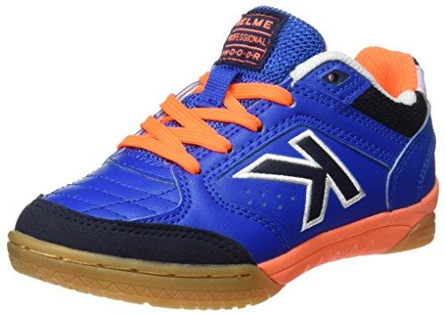 Kelme Precision Kids Synthetic, chaussures de football mixte enfant Bleu (bleu électrique)