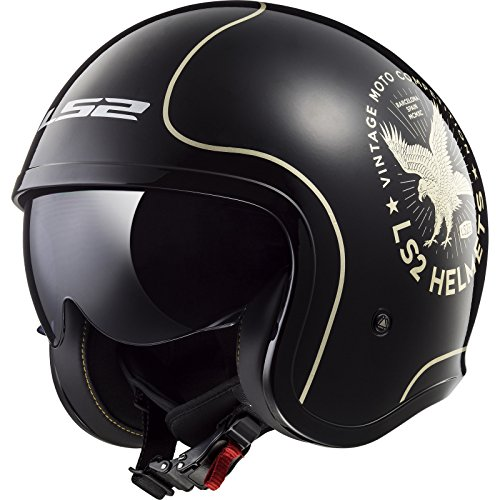 Preisvergleich Produktbild LS2 Jethelm OF599 SPITFIRE FLIER mit Visier Sonnenblende Motorrad Helm (L (59/60))