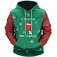 25b08d963b96 LUCKYCAT Weihnachten Unisex 3D Druck Hoodies Kapuzenpullover Langarm  Pullover Kapuzenpulli Sweatshirt Kapuzenjacke