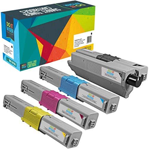 Do it wiser kompatible Toner als Ersatz für Oki C531DN MC562 MC562DNW C511DN C510 C510DN C511 C530DN C531 MC561 MC561DN MC562DN MC562W, 44469804 44469724 44469723 44469722 (4er-Pack)