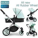Hot Mom Multi cochecito cochecito 2 en 1 con buggy 2018 nuevo diseño, Asiento para bebé vendido por separado - Green