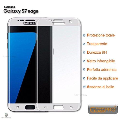Pellicola vetro temperato per samsung galaxy s7 edge protezione totale display touch screen copertura bordi