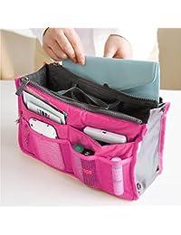 Techsun Multipocket Handbag Organizer, Travel Bag Make Up Organizer Bag Women Men Casual Travel Bag Multi Function...