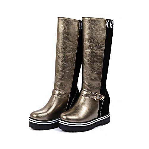Guoar , chaussures compensées femme Argent