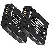 2x Minadax® qualitaets avec véritable 800mAh pour Panasonic DMC Batterie de TZ31/25/10/8/7/6/ZX1/DMC-ZX3, comme DMW-BCG10E–Système de batterie intelligent avec puce